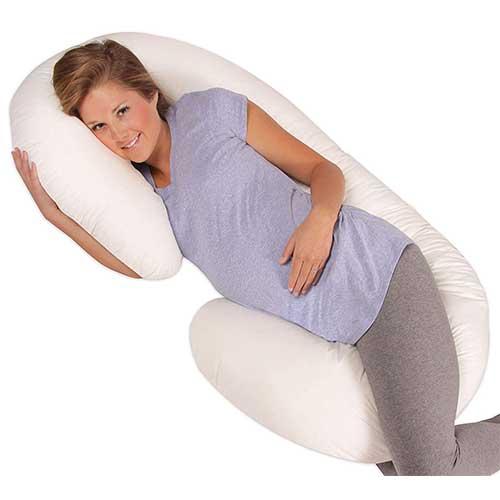 7. Leachco Snoogle Original Maternity/Pregnancy Total Body Pillow