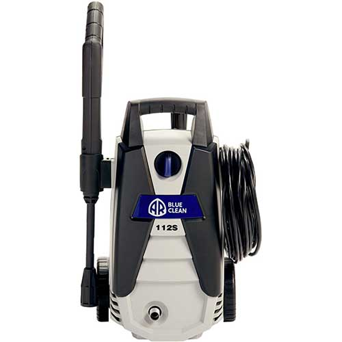 8. AnnoviReverberi, AR112S AR Blue Clean, 1, 500 psi Electric Pressure Washer, Nozzles, Spray Gun, Wand, Detergent Bottle & Hose