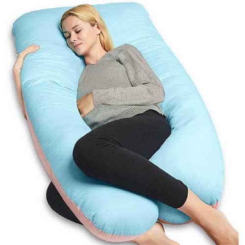 3. QUEEN ROSE Full Body Pregnancy Pillow