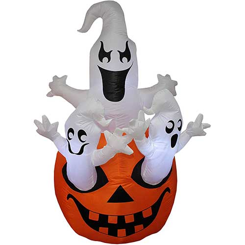 9. BZB Goods 5 Foot Tall Halloween Inflatable Three Ghosts