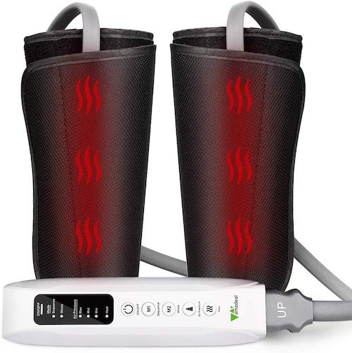 3. Amzdeal Leg Massager for Circulation Calf Massager with Heating Function, Suitable for Legs, Arms, Feet, Home & Office Use