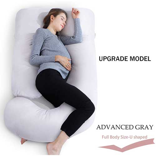 5. INSEN Full Body Pregnancy Pillow with Cotton Cover
