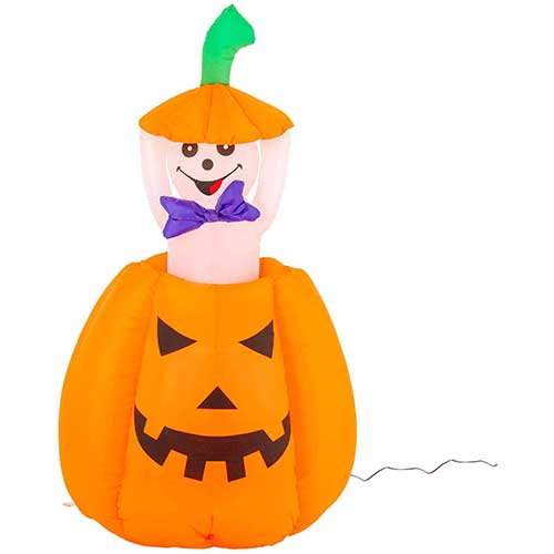 8. Halloween Haunters 5 Foot Animated Inflatable Pumpkin