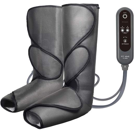 1. FIT KING Leg Air Massager for Circulation and Relaxation Foot and Calf Massage with Handheld Controller 3 Intensities 2 Modes(with 2 Extensions)