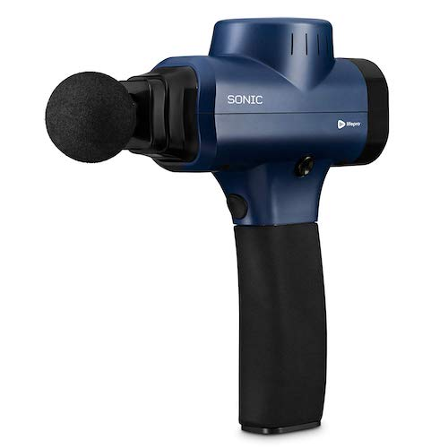 1. LifePro Sonic Handheld Percussion Massage Gun - Deep Tissue Massager for Sore Muscle and Stiffness - Quiet, 5 Speed High-Intensity Vibration - Quick Rechargeable Device - Includes 5 Massage Heads (Blue)
