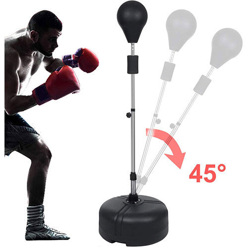 9. Hurbo Boxing Punching Bag with Stand Reflex Speed Punching Bag