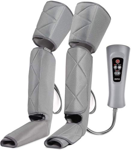 5. RENPHO Leg Massager for Relaxation Calf Feet Thigh Massage, Sequential Boots Device with Handheld Controller 6 Modes 4 Intensities, Helps to Relax Muscle Pain