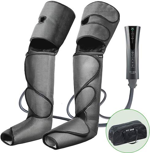 4. FIT KING Foot and Leg Massager for Circulation and Relaxation with Hand-held Controller 3 Modes 3 Intensities FT-012A