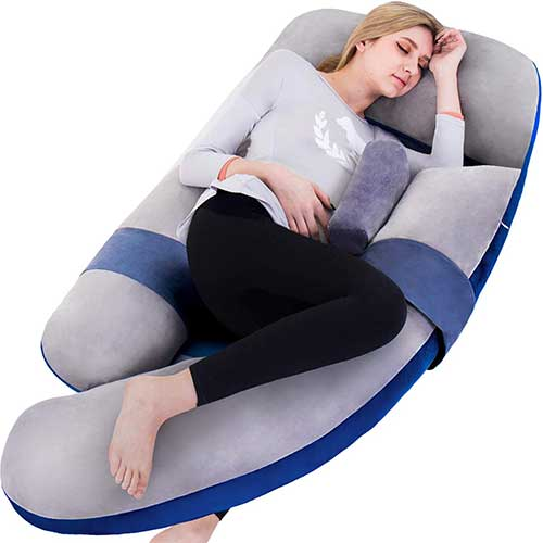 4. Awesling Extra Large U Shape Pillow and Lounger