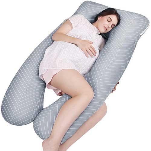8. MUBYTREE Pregnancy Pillow
