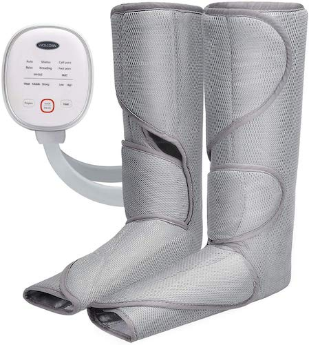 9. iVOLCONN Leg Massager with Heat for Circulation and Relaxation Foot Massager Leg Wraps with Handheld Controller 3 Intensities and 6 Modes