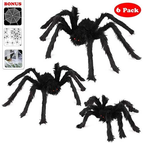 3. Halloween Spider Decorations, Aitey Halloween Scary Giant Spider Set