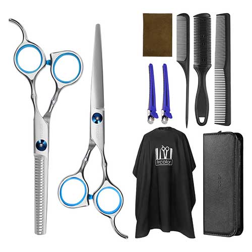 5. Frcolor Hair Cutting Scissors Hairdressing Thinning Shears Kit