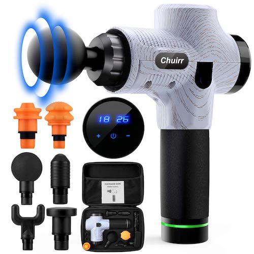 7. Chuirr Massage Gun, Handheld Electric Body Massager, Deep Tissue Percussion Massager, 30 Speed Muscle Recovery Professional