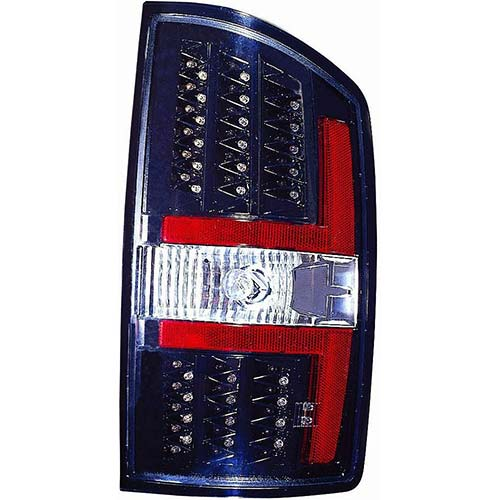 3. Depo 334-1909PXNS2C Dodge Ram Pickup Black LED Tail Light