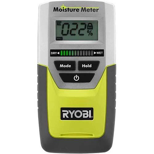 6. Ryobi E49MM01 Digital LED Pinless Moisture Meter