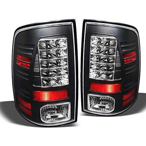 8. For 2009-2017 Dodge Ram LED Black Tail Lights Lamps Rear Brake Pair Taillights