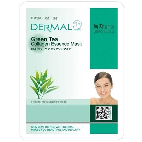 3. DERMAL Green Tea Collagen Essence Facial Mask