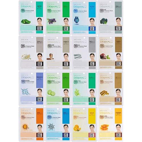 2. Dermal Korea Collagen Essence Full Face Facial Mask Sheet