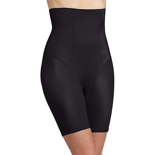6. Bali Women's Shapewear Cool Comfort Hi-Waist Thigh Slimmer