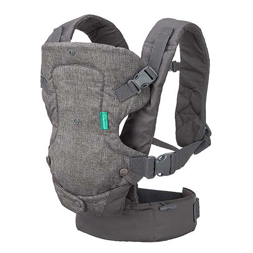 1. Infantino Flip 4-in-1 Convertible Carrier, Grey