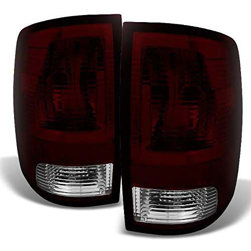 7. For 09 10-18 Dodge Ram 1500/2500/3500 Pickup Rear Dark Red Smoked Tail Lights