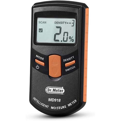 3. Dr.meter Upgraded Inductive Pinless Wood Moisture Meter