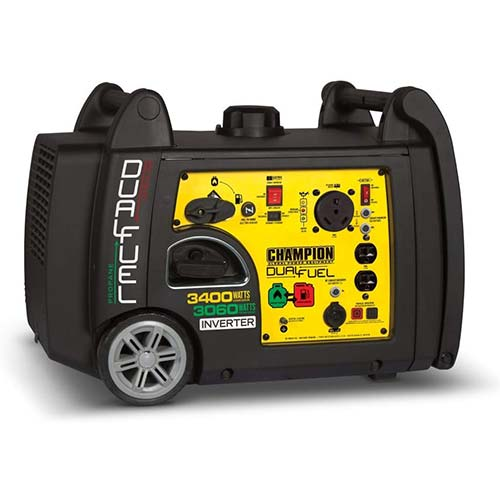 9. Champion 3400-Watt Dual Fuel RV Ready Portable Inverter Generator