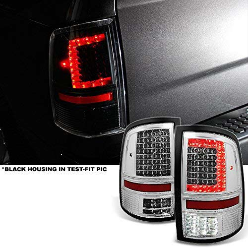4. For 2009-2018 DODGE RAM 1500 | 10-18 2500/3500 C-Shaped Clear LED Tail Lights