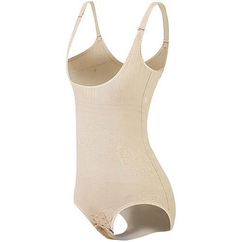 3. KSKshape Seamless Body Shaper Open Bust Shapewear Firm Control Bodysuit for Women
