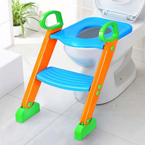 9. Potty Training Seat with Step Stool for Kids, GPCT Toddler Toilet Seat