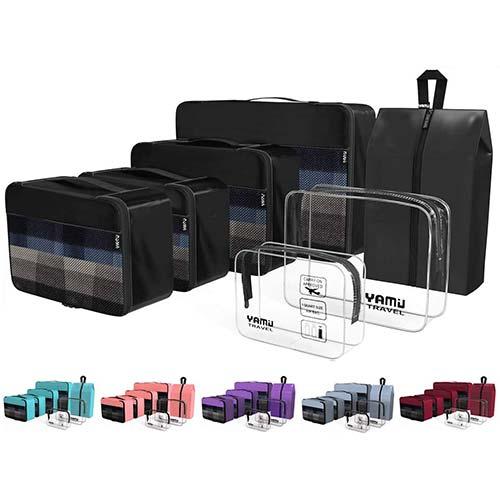 1. YAMIU Packing Cubes 7-Pcs Travel Organizer Accessories