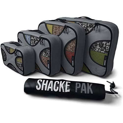 4. Shacke Pak - 4 Set Packing Cubes - Travel Organizers with Laundry Bag