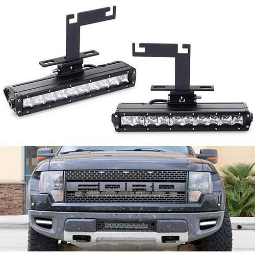 6. iJDMTOY Lower Bumper LED Light Bar Fog Lamp Kit For 2010-2014 Ford F150 Raptor
