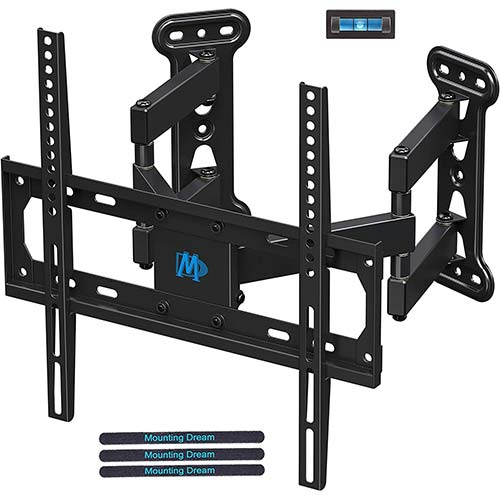 5. Mounting Dream Full Motion Corner TV Wall Mount Bracket for Most 26-50 Inch LED, LCD, OLED Flat Panel Screen TV, Mount with Swivel Articulating Arms up to VESA 400x400mm and 99 LBS with Tilting MD2501