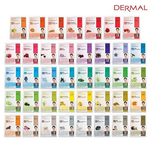 1. DERMAL 39 Combo Pack Collagen Essence Full Face Facial Mask Sheet