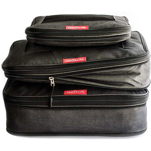 10. LeanTravel Compression Packing Cubes Luggage Organizers for Travel