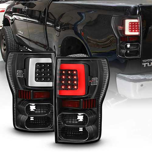 5. ACANII - For Black Bright Light Tube 2007-2013 Toyota Tundra LED Tail Lights Brake Lamps