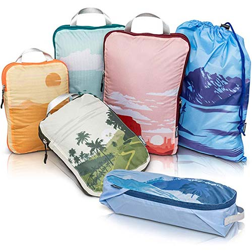 9. Compression Packing Cubes for Travel- Packing Cubes and Travel Organizers