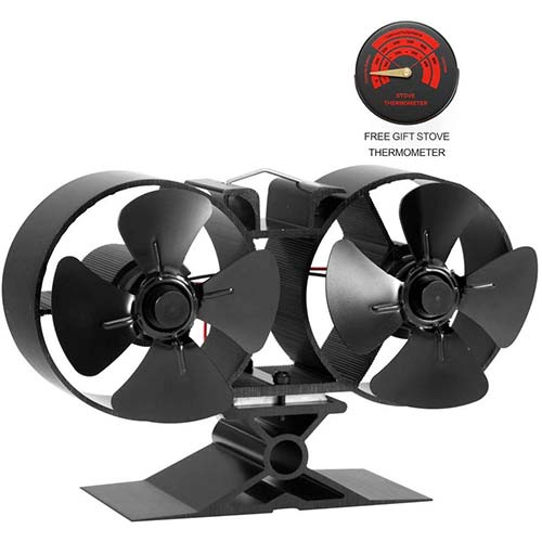 7. CRSURE Fireplaces Stove Fan