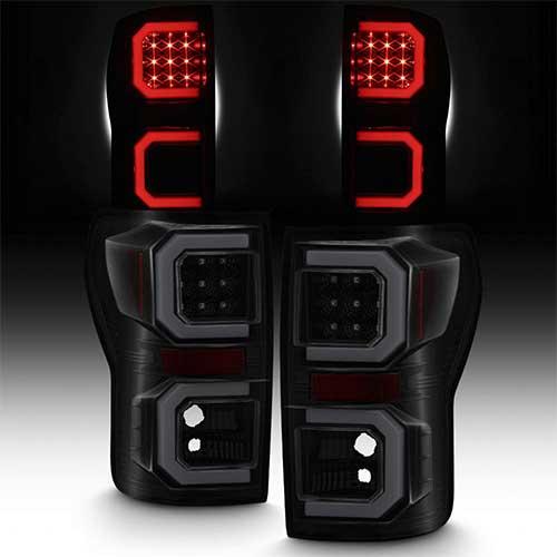 7. BlacK Smoked For 2007-2013 Toyota Tundra Pickup Truck [Tube Bar] LED Tail lights