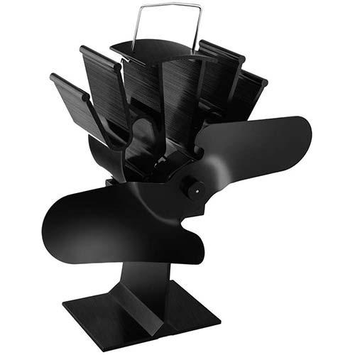 6. E-More Heat Powered Wood Stove Eco Fan