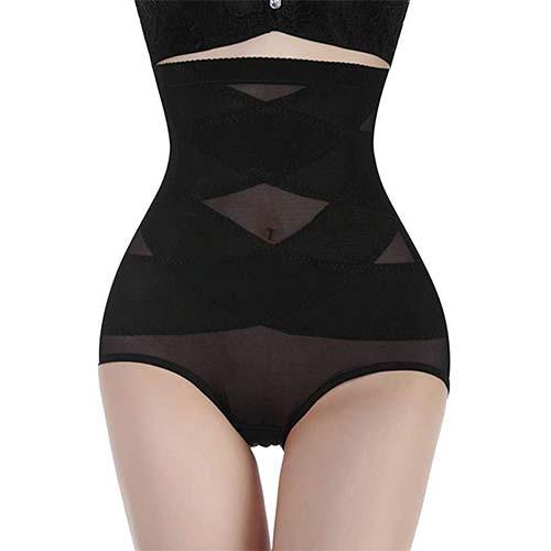 4. Nebility Women Butt Lifter Shapewear Hi-Waist Double Tummy Control Panty Waist Trainer Body Shaper