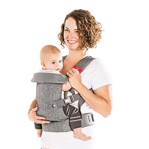 4. You+Me 4-in-1 Ergonomic Baby Carrier, 8 - 32 lbs (Grey Mesh)