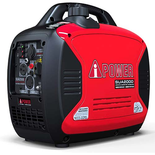 2. A-iPower SUA2000iV Super Quiet 2000-Watt Portable Inverter Generator