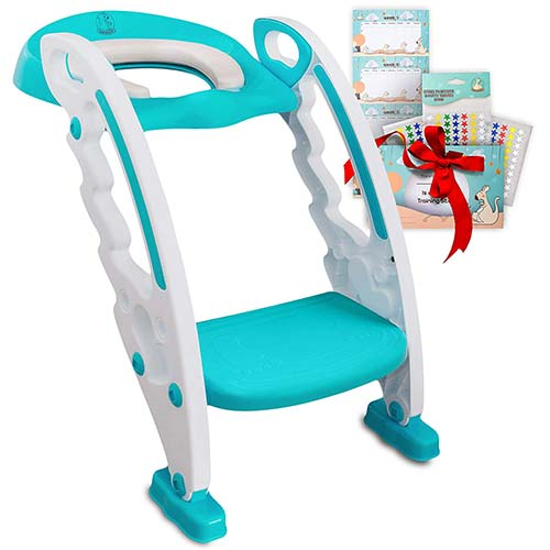 8. BABYSEATER Toilet Training Seat with Ladder and Handles