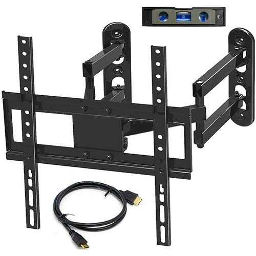 9. Everstone Corner TV Wall Mount for 26-50 Inch LED, LCD, Plasma Flat Screen, Curved Screen TV Articulating Brackets Tilt, Swivel, Full Motion