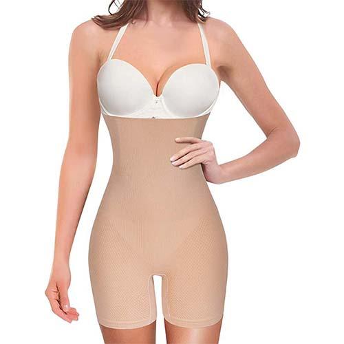 7. Nebility Women Waist Trainer Shapewear Tummy Control Body Shaper Shorts Hi-Waist Butt Lifter Thigh Slimmer