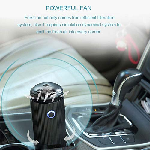 10. Daroma 3 in 1 Car Air Purifier Ionizer