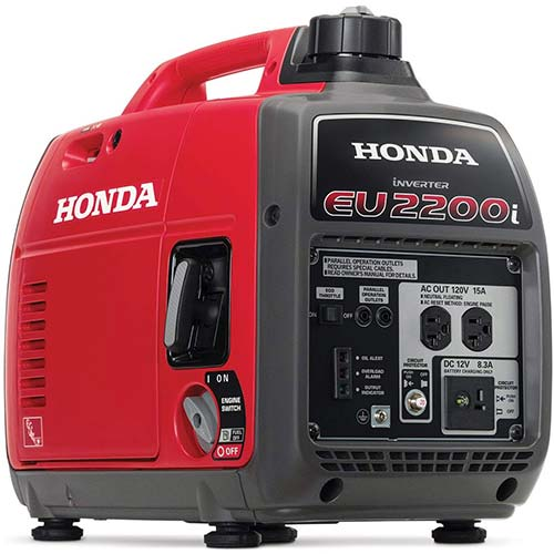 3. Honda EU2200i 2200-Watt Super Quiet Gas Power Portable Inverter Generator